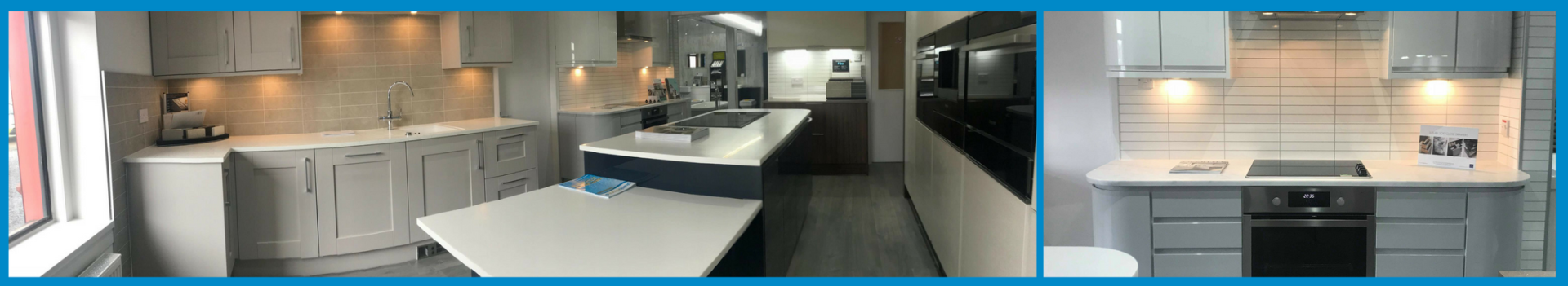 Plumbstore Bellshill Kitchen Showroom Display area with working appliances and under unit heating