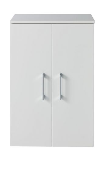 super popular 49b29 4b2cc Lomond 500 two-door bathroom wall cabinet with chrome handles | Gloss white  | Gloss black | Gloss anthracite | Truffle oak - Highlife Bathrooms