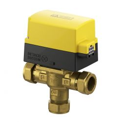 EPH Detach Pro 22mm 3 port compression motorised valve  (5 year warranty)