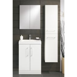 Lomond tall wall hung bathroom unit | Gloss white | Gloss black | Gloss anthracite | Truffle oak – Highlife Bathrooms