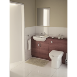 Vitra S20 Bathroom suite with back to wall toilet and semi-recessed, 1 or 2 tap hole washbasin