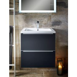 Talla 600 armastone washbasin and two drawer vanity unit | Gloss coffee | Gloss slate | Gloss crème – Highlife Bathrooms