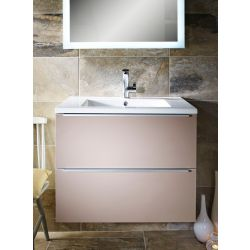 Talla 750 armastone washbasin and two drawer bathroom unit | Gloss slate | Gloss coffee | Gloss crème – Highlife Bathrooms