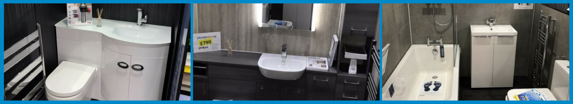 Plumbstore Bellshill bathroom display areas in there bellshill bathroom showroom