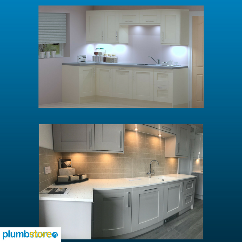 From 3d kitchen design to real kitchen