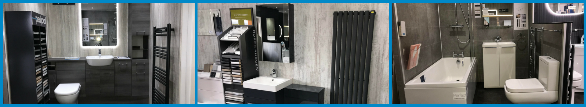 Plumbstore Bellshill bathroom display areas within there north lanarkshire bathroom showroom